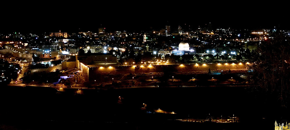 Jerusalén desde el Monte de los olivos, Israel