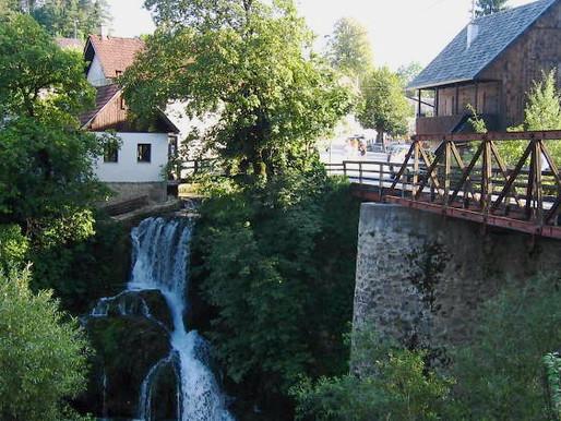 Rastoke un pueblo de cuento entre aguas, Croacia.