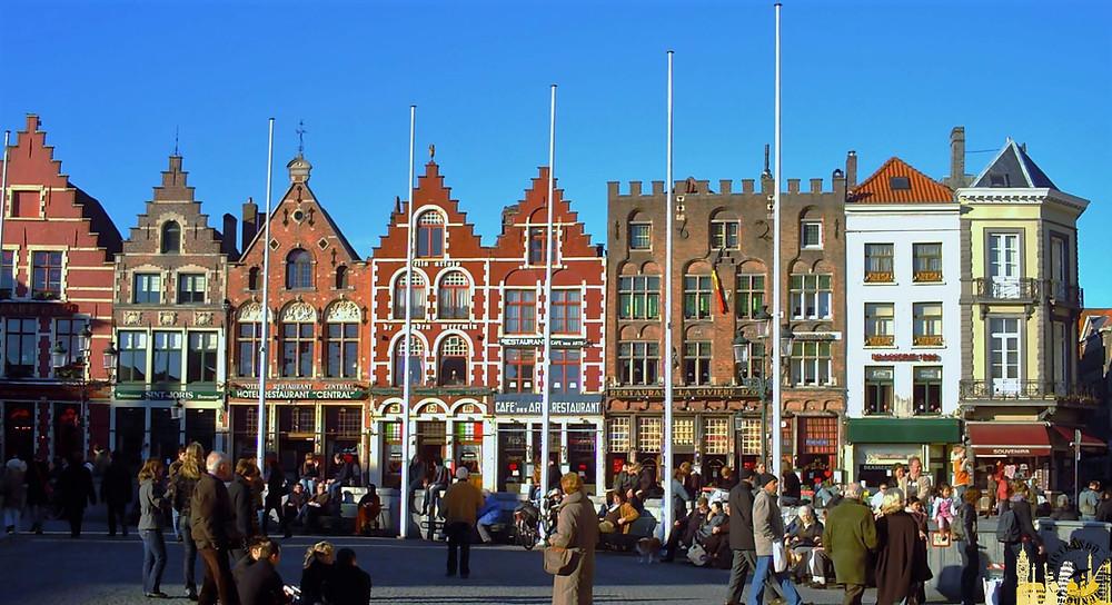 Plaza Mercado. Brujas (Bélgica)