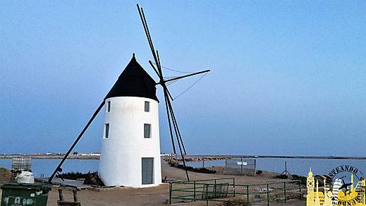San Pedro del Pinatar y sus molinos de viento. Murcia (España)