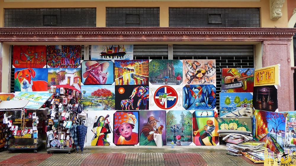 Pintores callejeros. Santo Domingo (Rep. Dominicana)