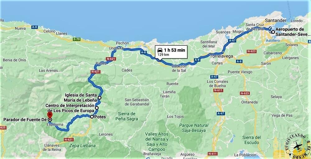 Mapa Asturias Y Cantabria.Ruta De 4 Dias En Coche Por Cantabria Y Asturias I Espana