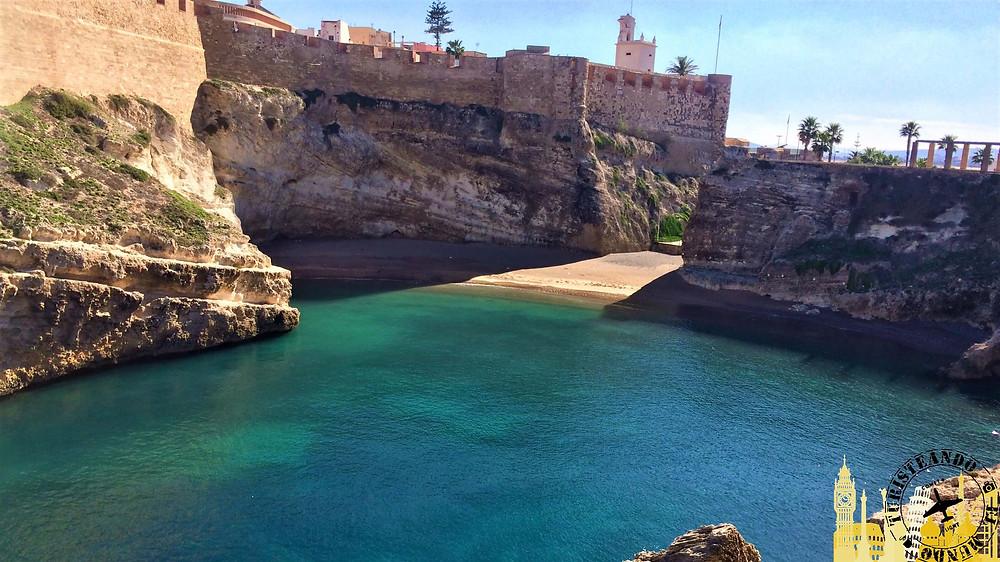 Melilla (España). Ensenada de los galápagos