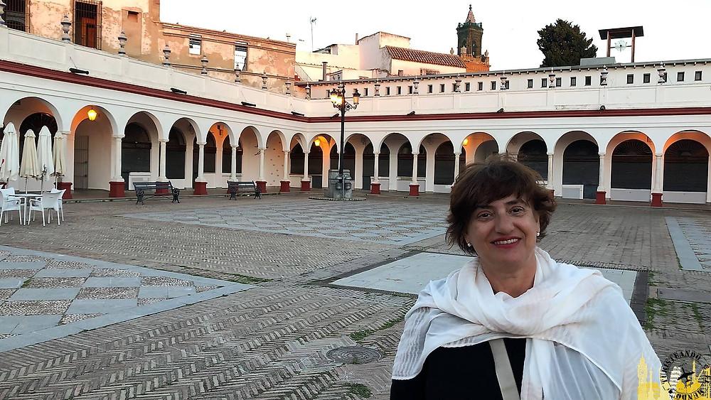 Plaza del Mercado de Abastos de Carmona (Sevilla). España