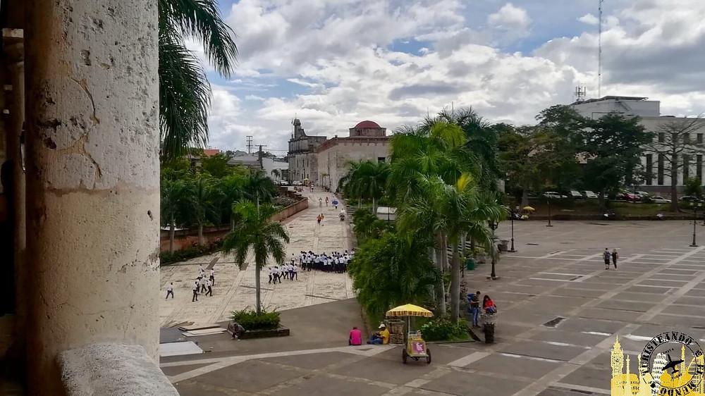 Plaza España y calle de las Damas. Santo Domingo (Rep. Dominicana)