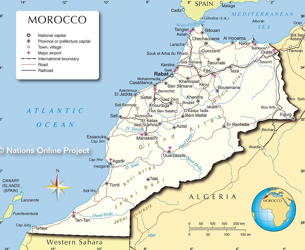 Mapa de Maruecos