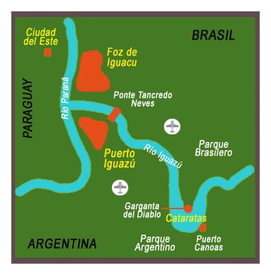 mapa Hito tres fronteras