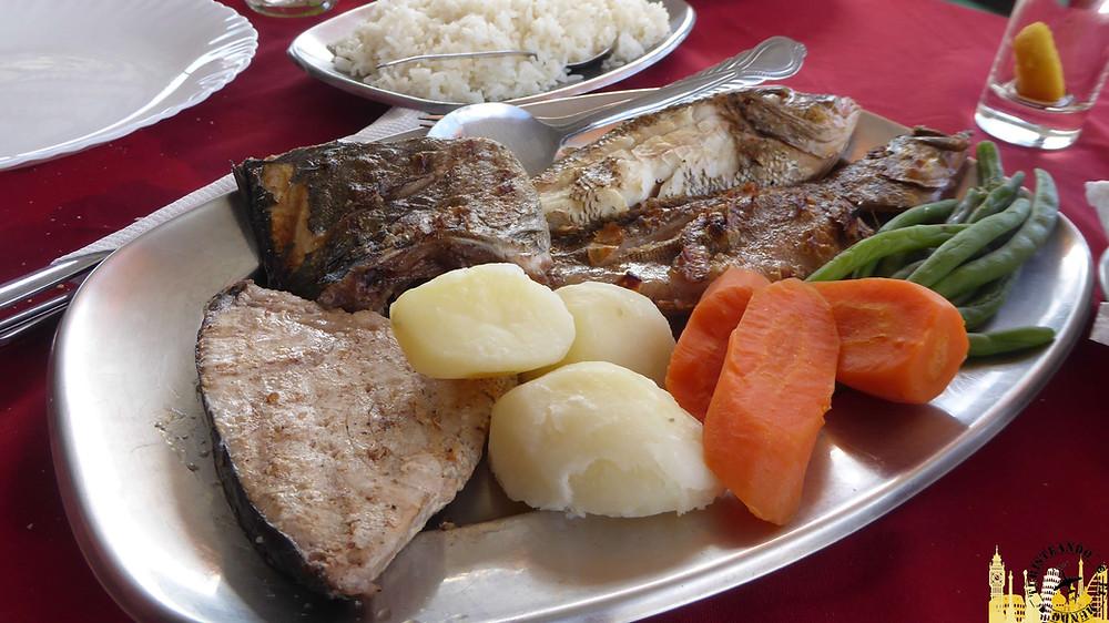 Isla de Santiago. Tarrafal (Comida ). Cabo Verde