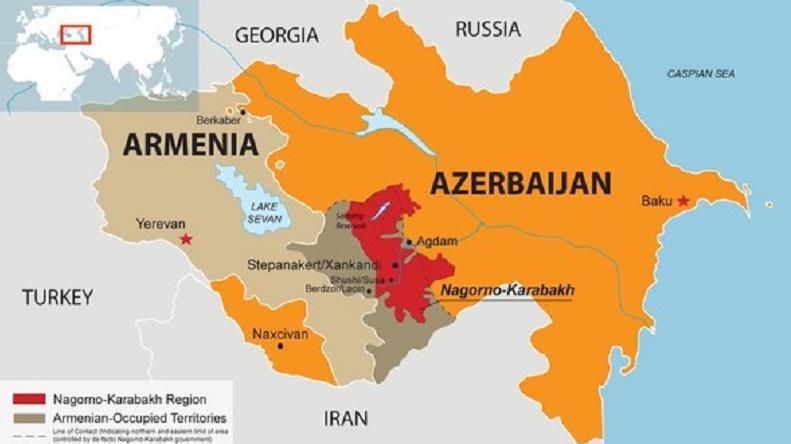 Mapa de Azerbaiyán