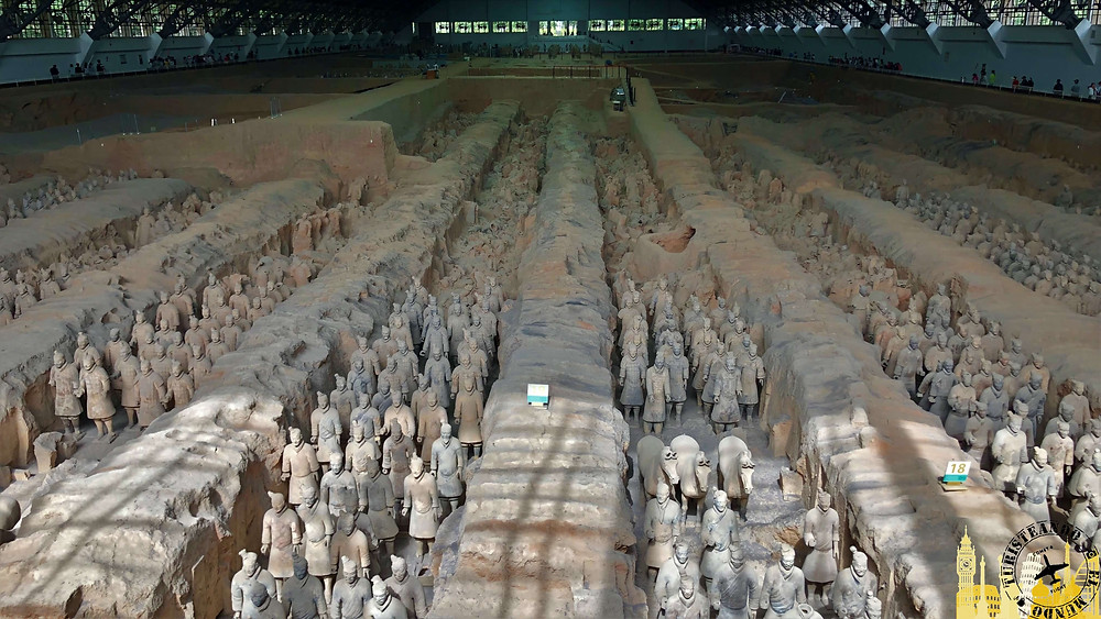 Guerreros de Terracota en  Xian, China