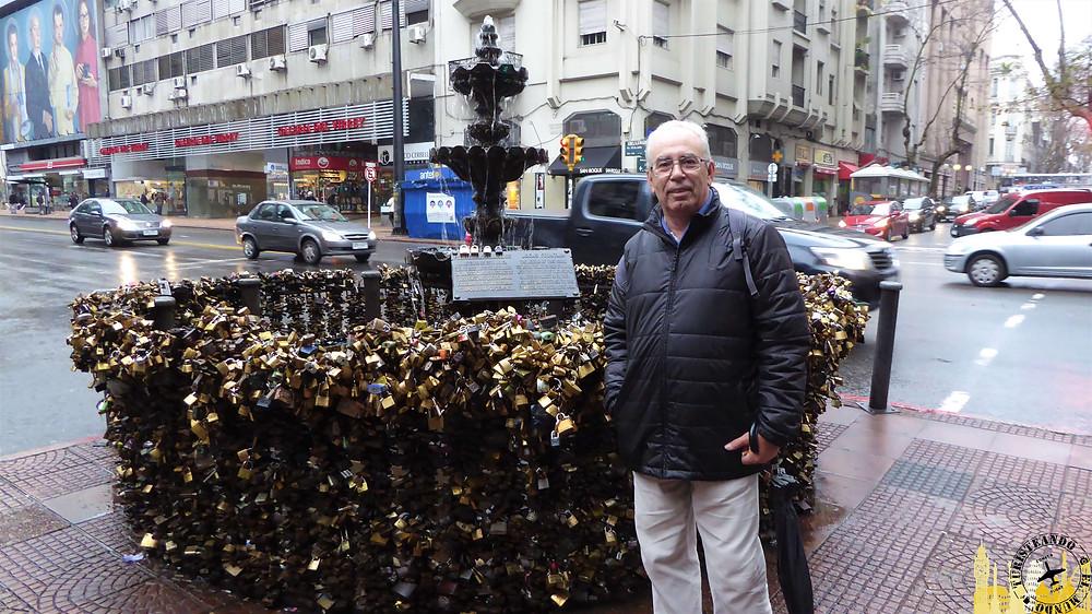 Fuente de los candados. Montevideo (Uruguay)