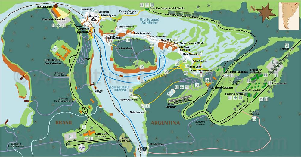 Mapa Cataratas Iguazú