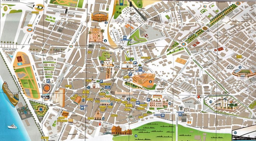 Mapa turístico Huelva