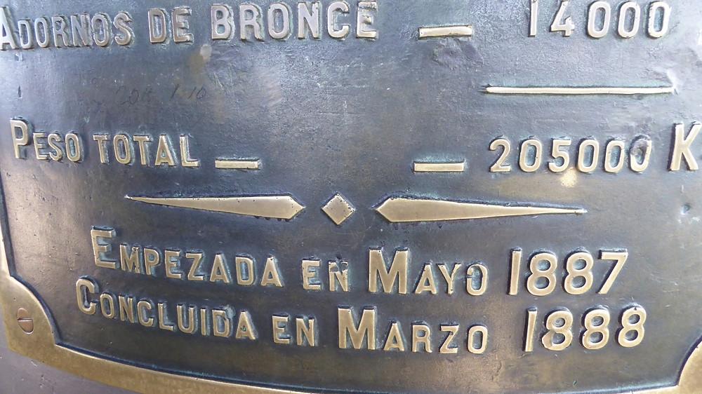 Datos monumento a Colón