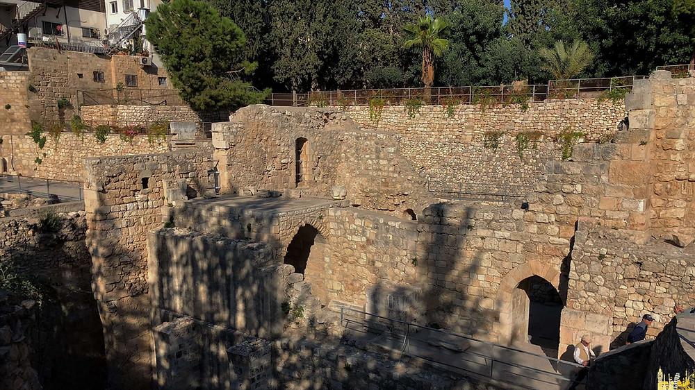 Jerusalén. Excavaciones barrio cristiano