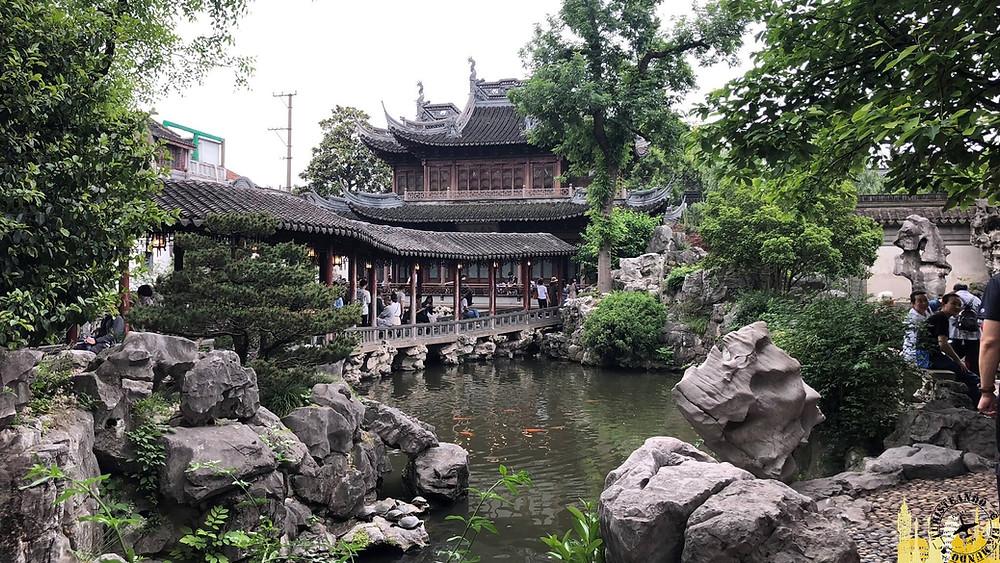 Jardín  Yuyuan de Shanghai, China