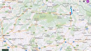 Ruta hacia Presov (Eslovaquia)