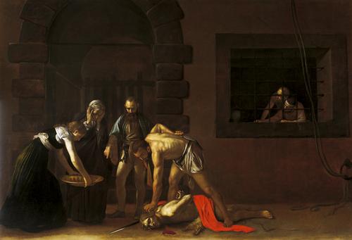 Pintura de Carvaggio. Concatedral San Juan (La Valeta)