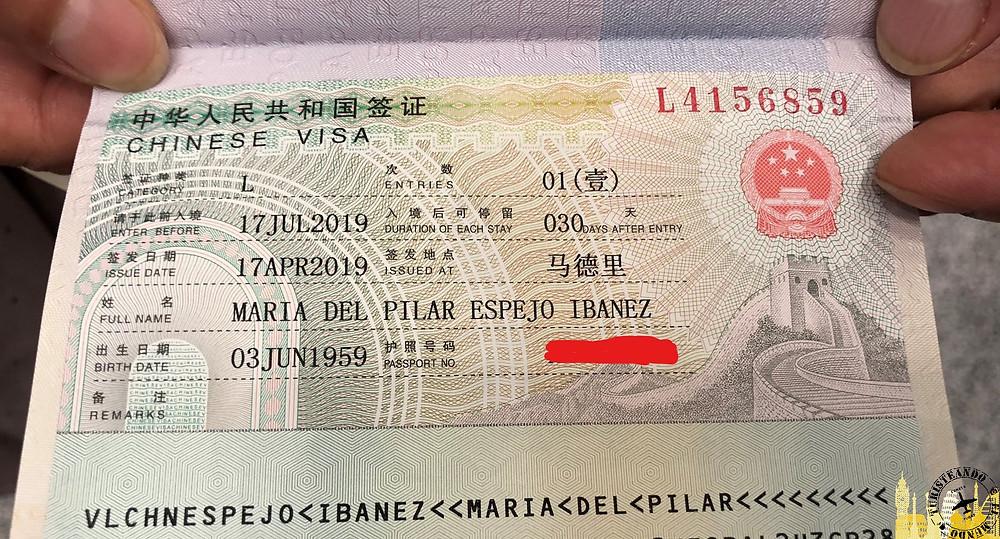 Visado a China de Turisteando el Mundo