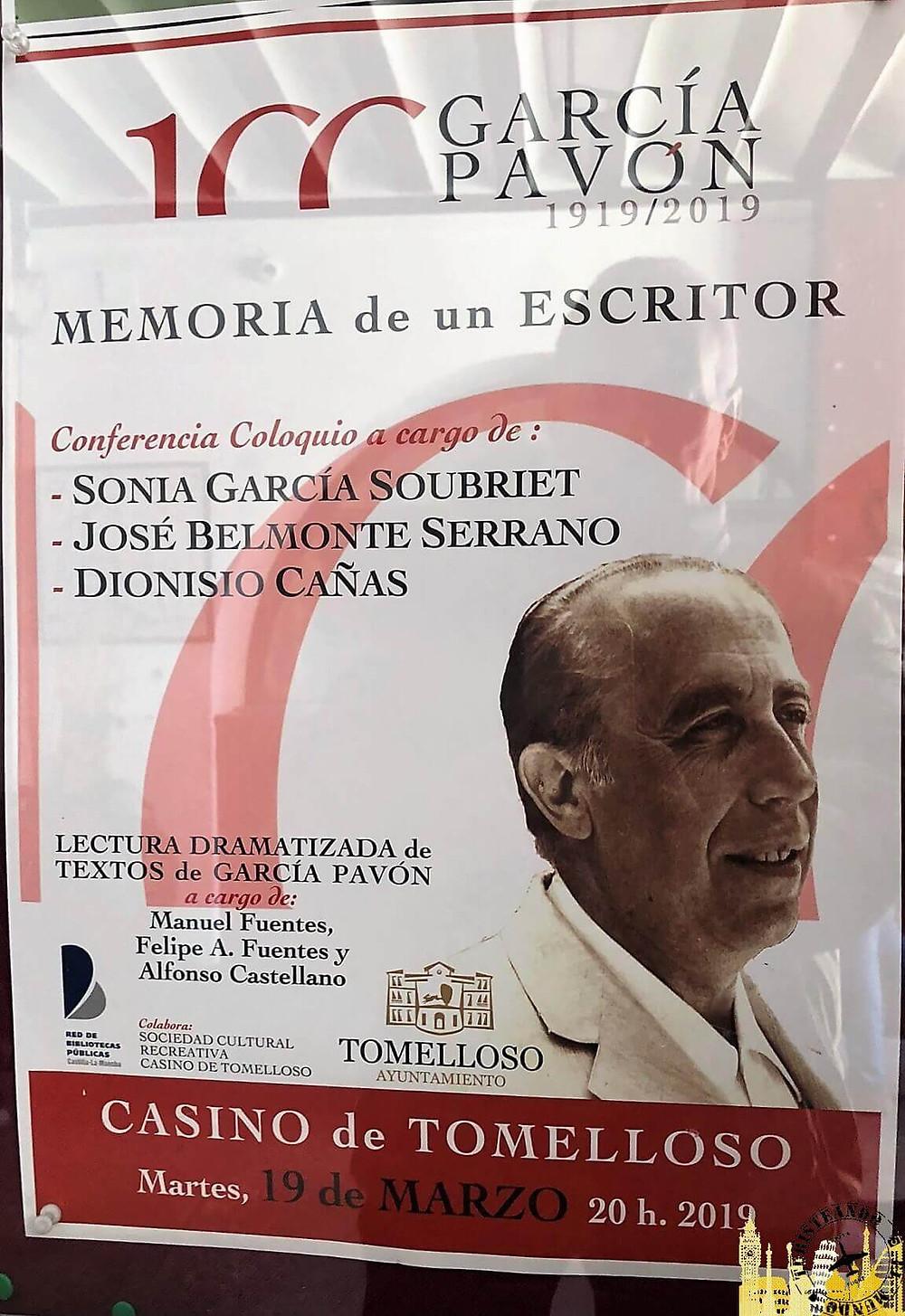 Tomelloso (Castilla la Mancha). Centenario García Pavón