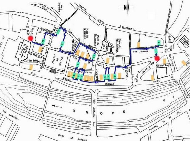 Plano de Trebules. Lyon (Francia)