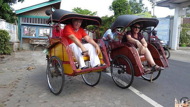 Becak en Kota Gede