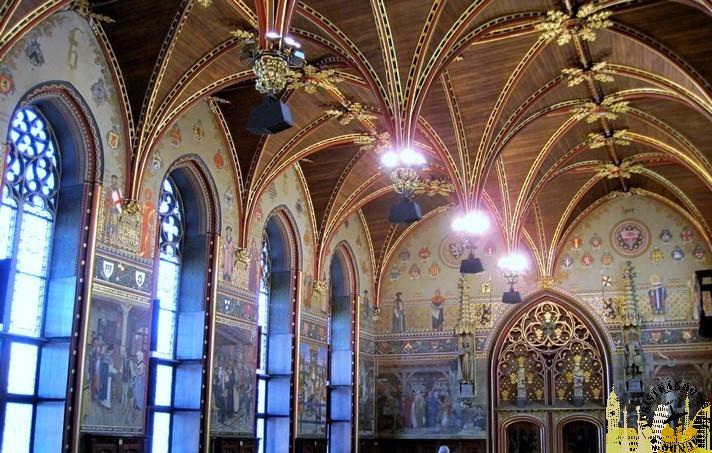 Sala gótica del Ayuntamiento de Brujas (Bélgica)