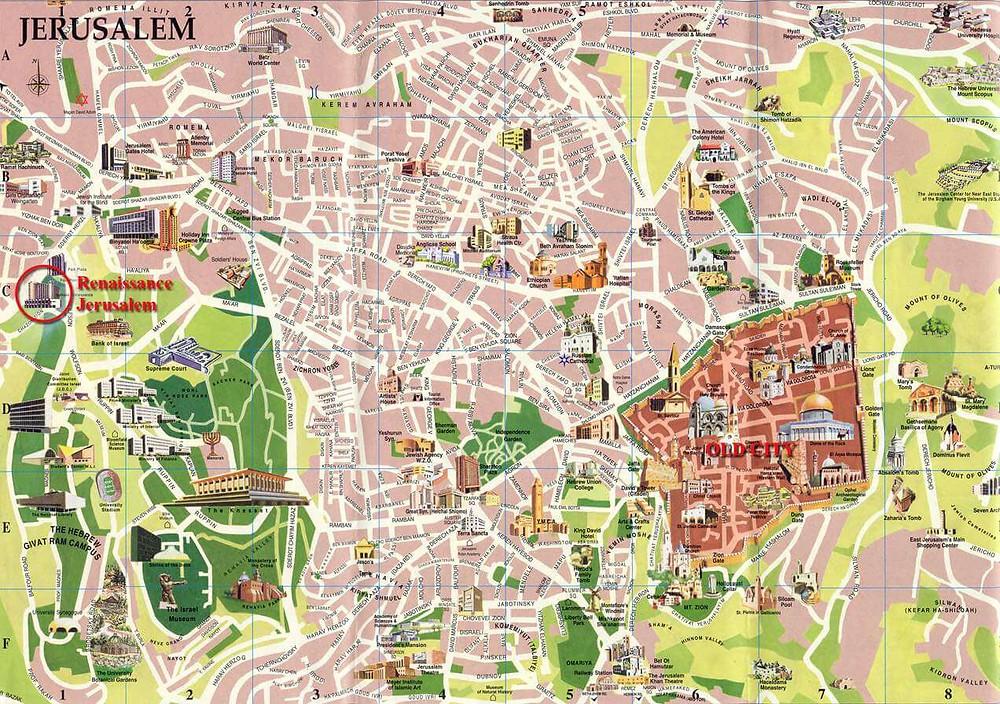 Jerusalén. Mapa ciudad