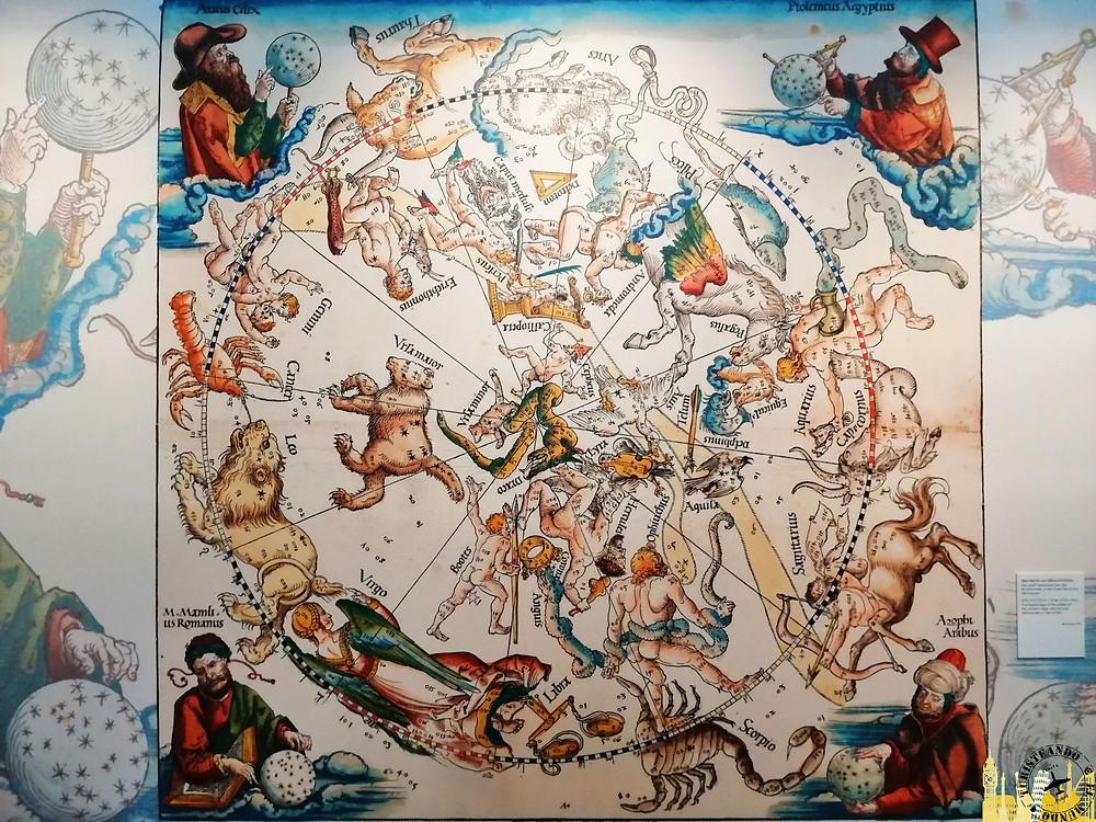 Mapa Constelaciones (Durero). Biblioteca Nacional Austriaca