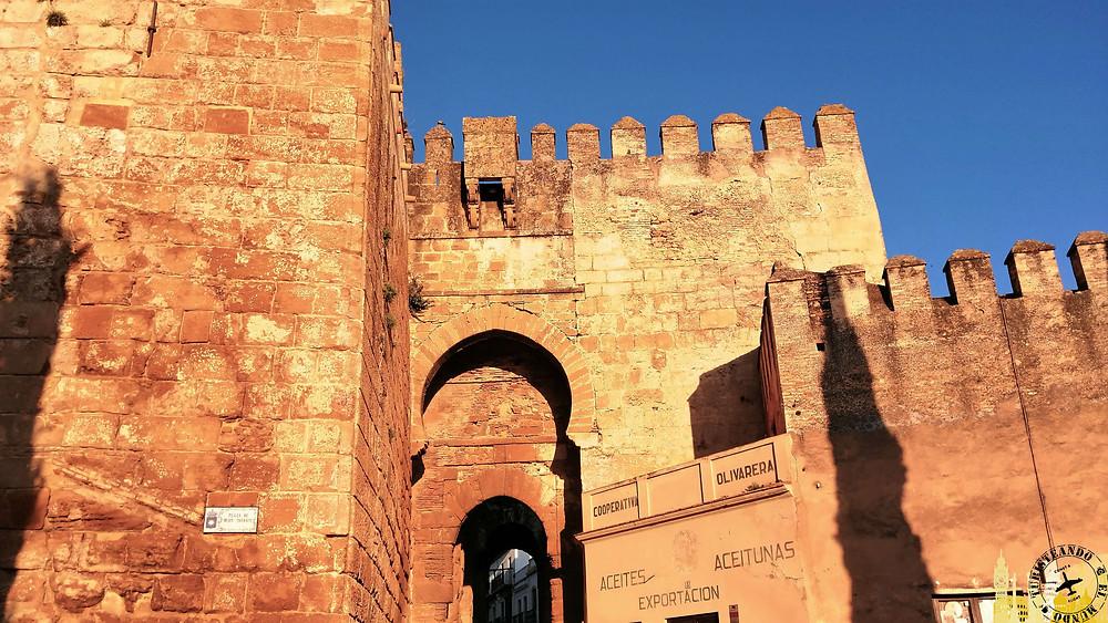 Alcázar y Puerta de Sevilla. Carmona (Sevilla). España