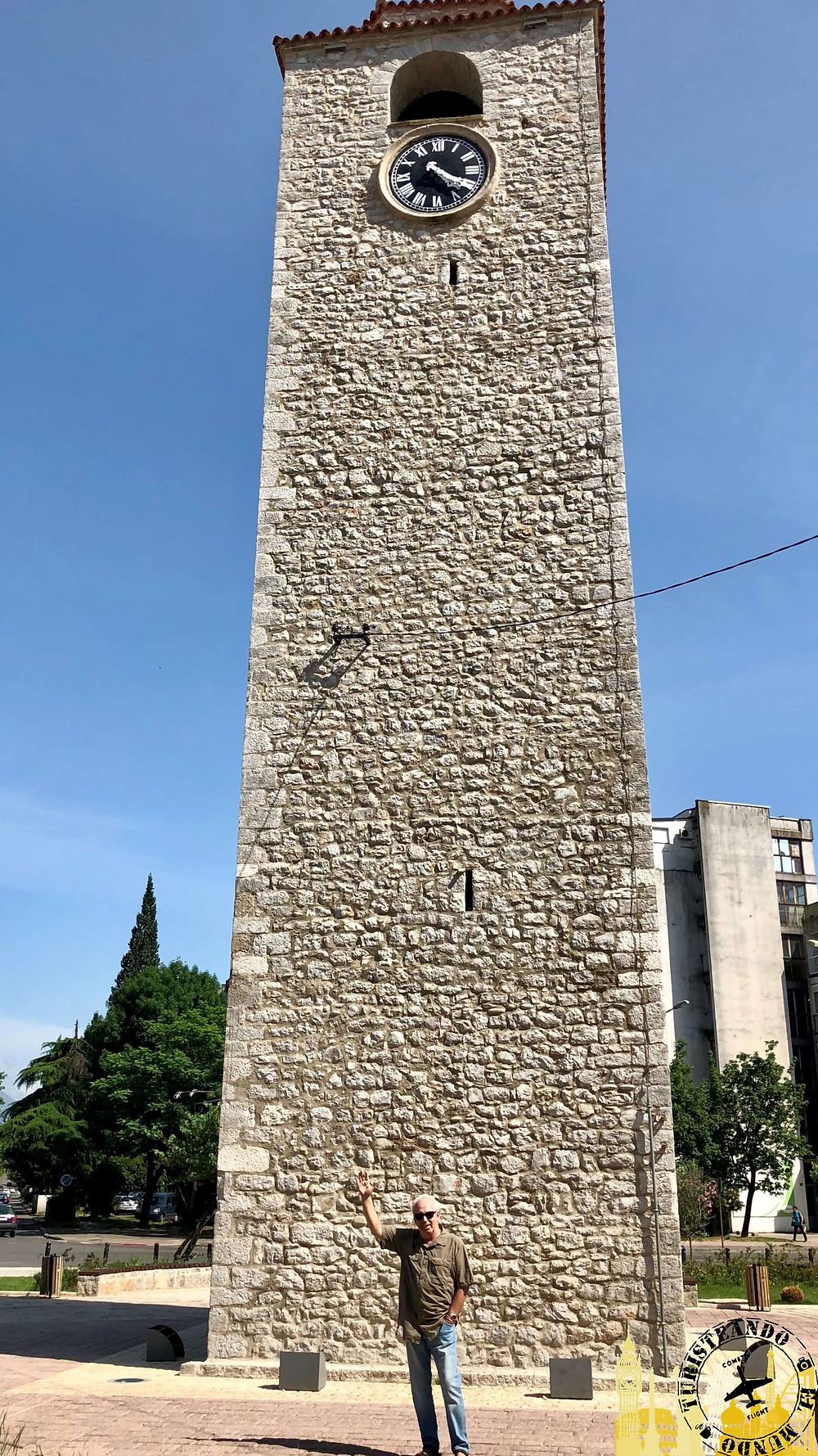Barrio otomano Stara Varoš. Torre del reloj (Podgorica)