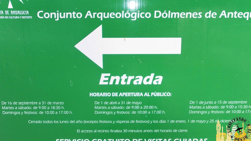 Cartel Conjunto Arqueológico Dólmenes Antequera (Andalucía)