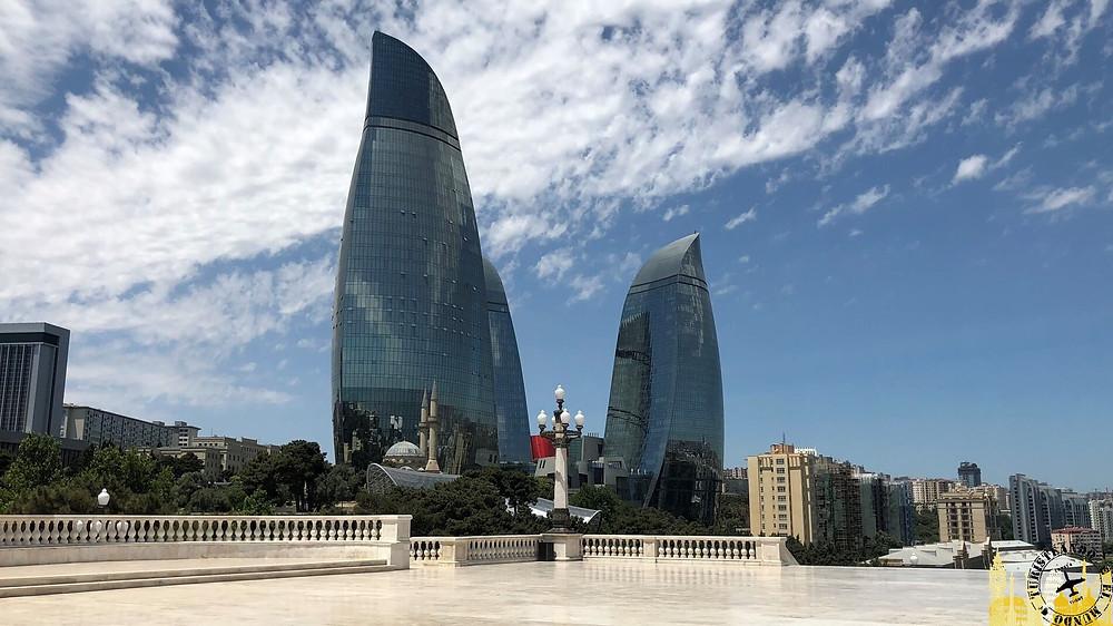 Flame Towers en Bakú, Azerbaiyán