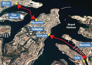 Plano ciudades Malta