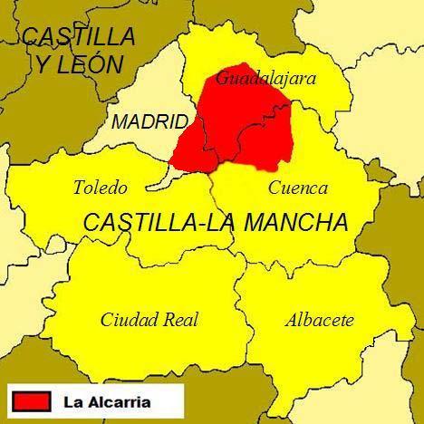 Mapa Alcarria (Wikipedia)