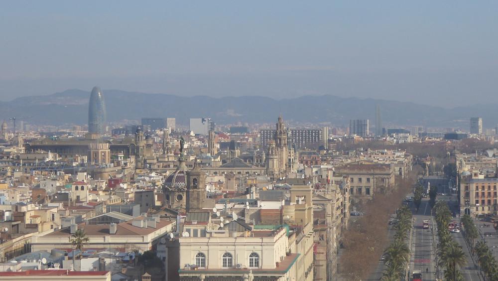 Barcelona desde monumento a Colón