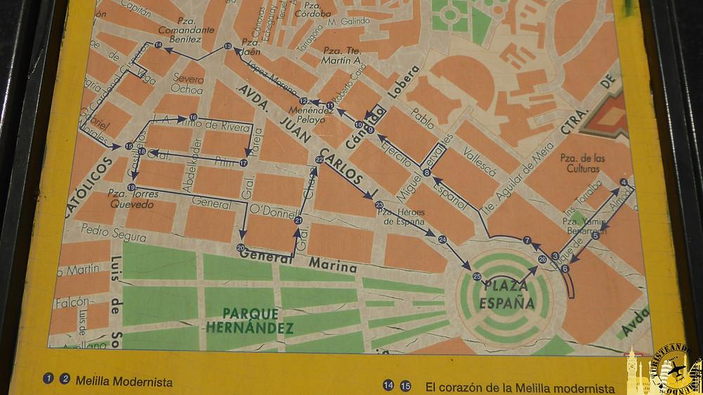 Melilla (España). Panel informativo