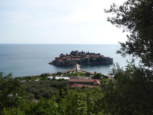 Sveti-Stefan, costa adriática de Montenegro.