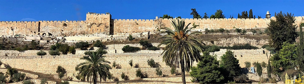Jerusalén. Puerta Dorada y murallas