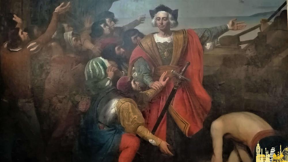 Pintura de Colón. Palos de la Fontera (España)