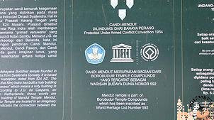 Cartel Unesco Candi Menut