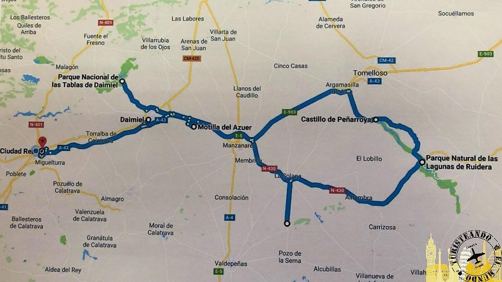 Ruta Mancha Húmeda, Ciudad Real (España)