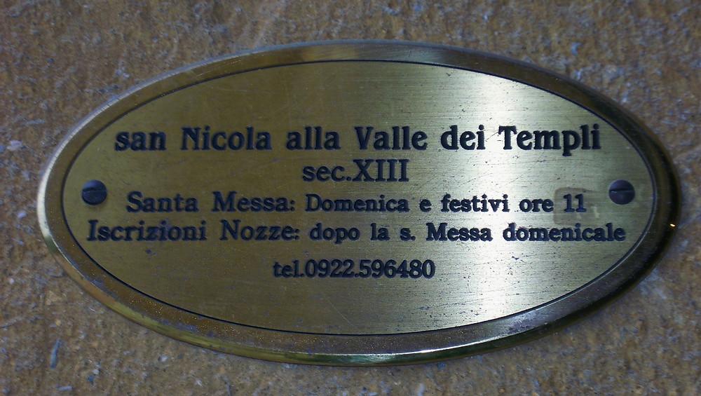 glesia San Nicolás. Agrigento (Italia)