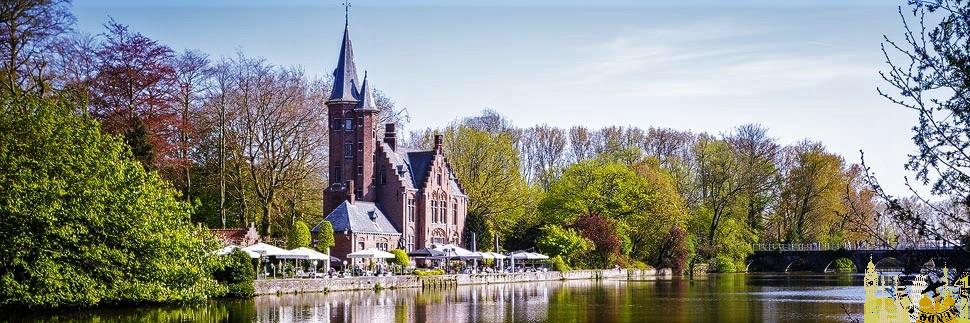 Parque Minnewaterpark. Brujas (Bélgica)