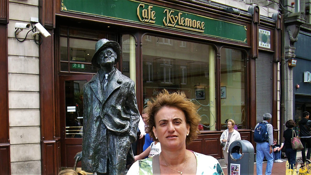 Estatua James Joyce. Dublín (Irlanda)