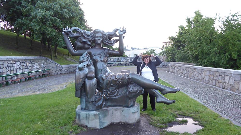 Escultura en Bratislava (Eslovaquia)