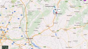 Ruta a Piestany (Eslovaquia)