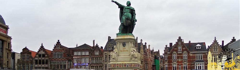 Estatua de Jacob van Artevelde. Friday Market (Gante)