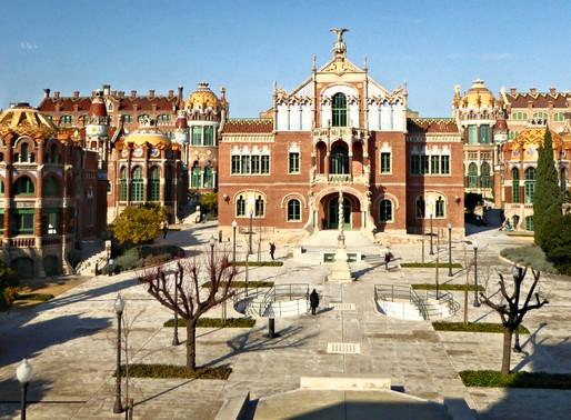 Barcelona. Visita al centro de la ciudad y Hospital San Pau (UNESCO). Cataluña (España)