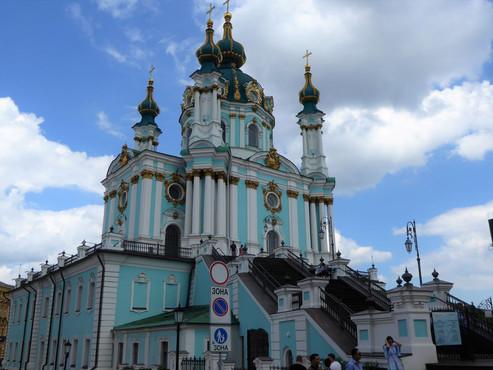 Iglesia de San Andrés en Kiev (Unesco). Ucrania